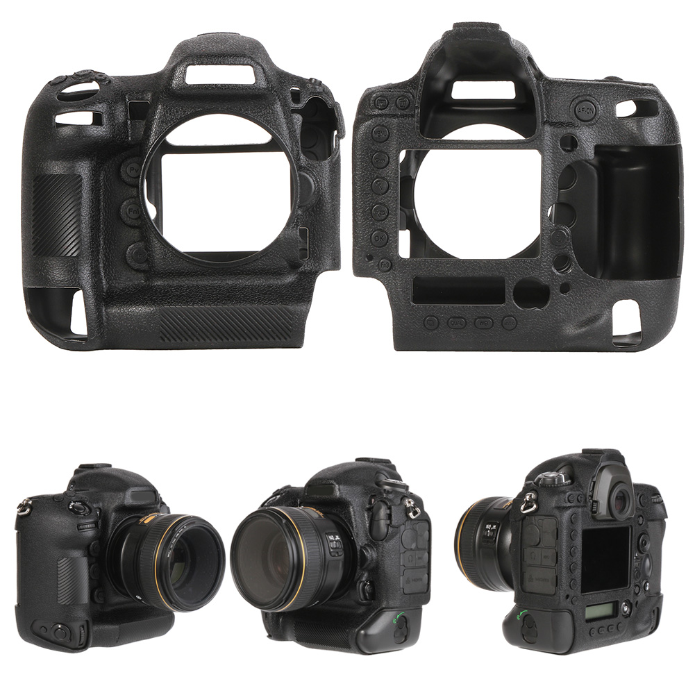 Funda-de-Silicona-Suave-a-Prueba-De-Golpes-Funda-Protectora-De-Camara-Para-Nikon-D5300-D7500-D3400 miniatura 47