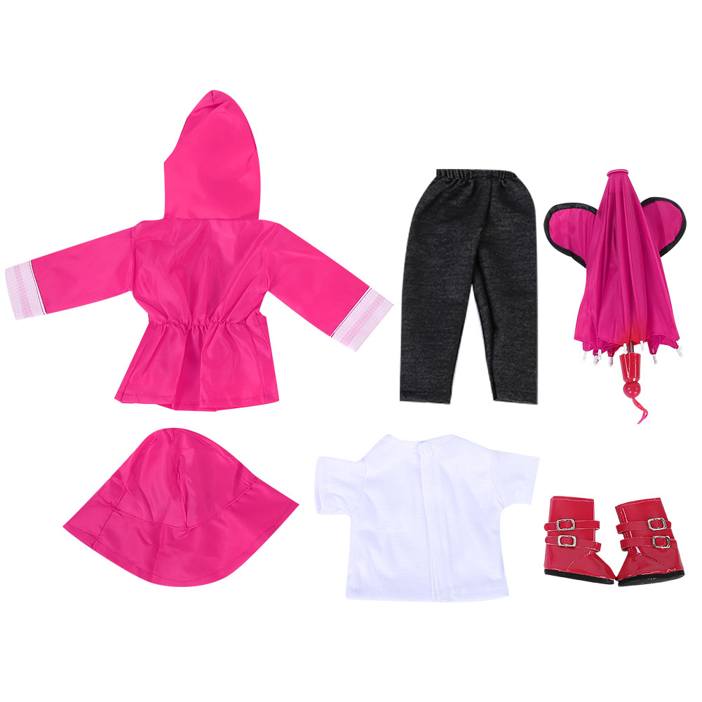 Doll-outfit-set-for-18-inch-baby-dolls-clothes-for-18-034-43-cm-for-new-born-dolls thumbnail 16