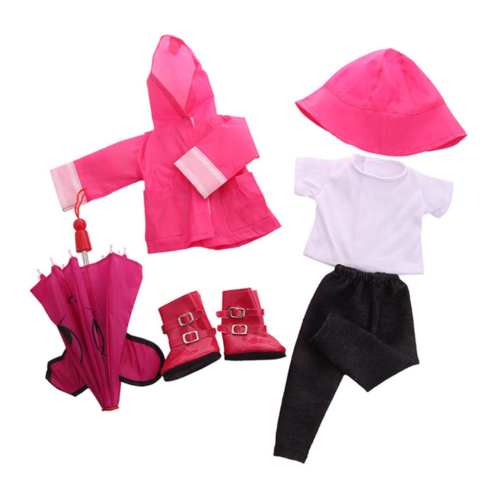 Doll-outfit-set-for-18-inch-baby-dolls-clothes-for-18-034-43-cm-for-new-born-dolls thumbnail 17