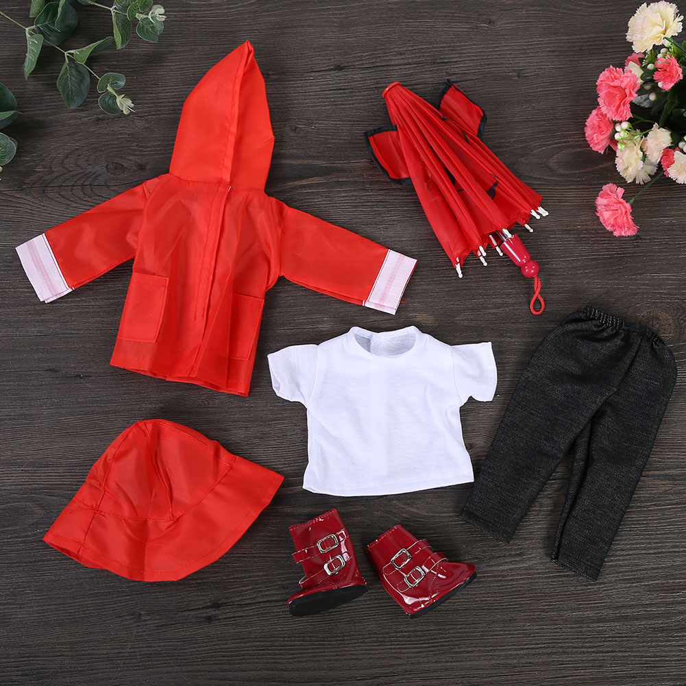 Doll-outfit-set-for-18-inch-baby-dolls-clothes-for-18-034-43-cm-for-new-born-dolls thumbnail 23