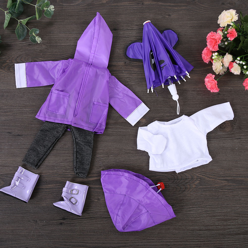 Doll-outfit-set-for-18-inch-baby-dolls-clothes-for-18-034-43-cm-for-new-born-dolls thumbnail 25