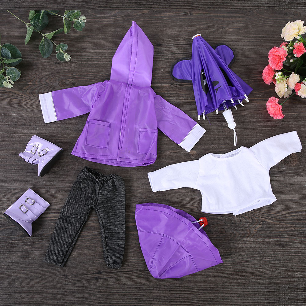 Doll-outfit-set-for-18-inch-baby-dolls-clothes-for-18-034-43-cm-for-new-born-dolls thumbnail 26