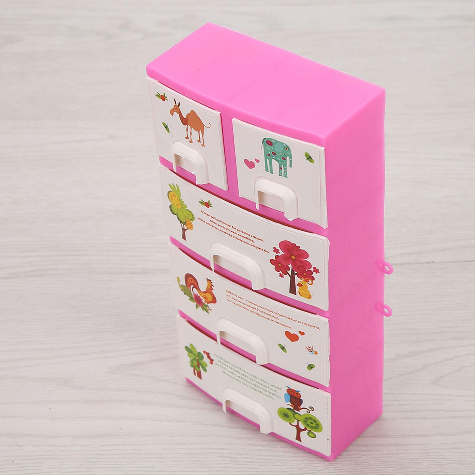 Petites Boîtes de Rangement en Plastique Panier de Rangement des Poupée de Barbie Accessoire à ...