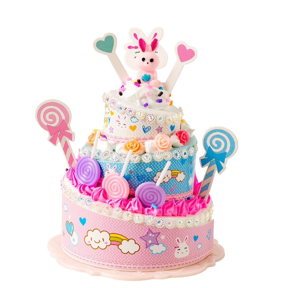 Cartoon-Simulated-Food-DIY-Pretend-Birthday-Party-Double-Layer-Cake-Toy-Gifts thumbnail 22
