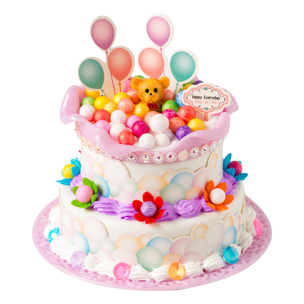 Cartoon-Simulated-Food-DIY-Pretend-Birthday-Party-Double-Layer-Cake-Toy-Gifts thumbnail 19