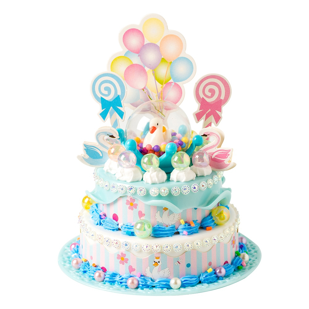 Cartoon-Simulated-Food-DIY-Pretend-Birthday-Party-Double-Layer-Cake-Toy-Gifts thumbnail 16