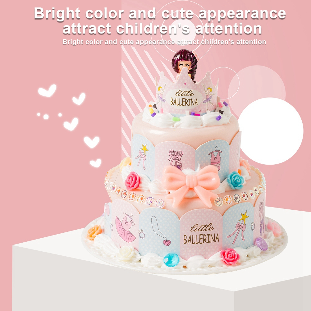 Cartoon-Simulated-Food-DIY-Pretend-Birthday-Party-Double-Layer-Cake-Toy-Gifts thumbnail 13
