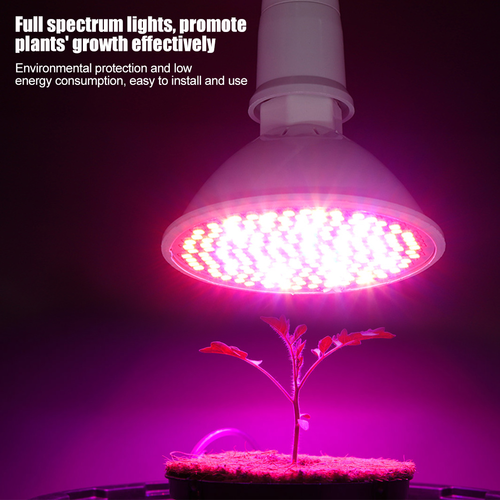 200 Leds 24 30 50w Plant Grow Light Bulbs Clip Holder Flower Growing House Electricity Lighting Lamp Socket Image Visual