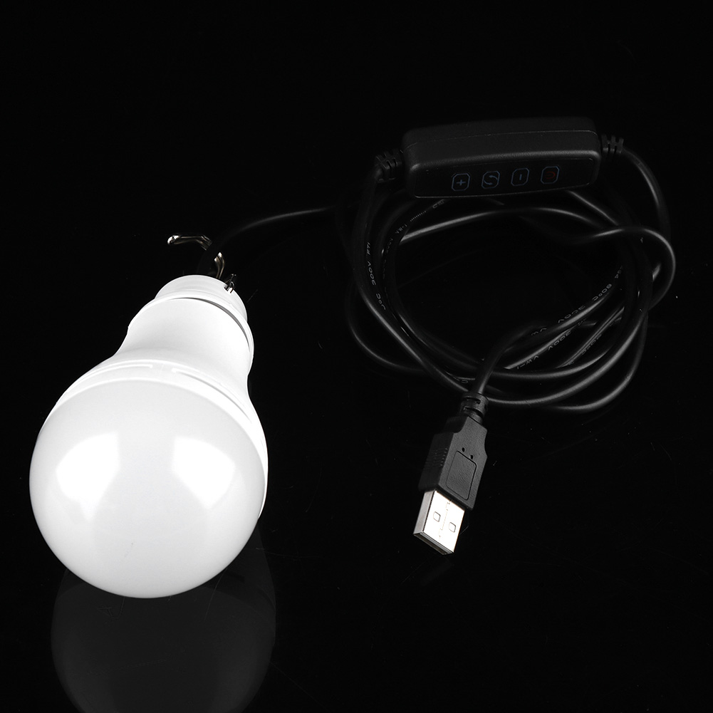 Outdoor-USB-5V-5-6-10W-LED-Light-Bulb-Dimmable-Night-Lamp-for-Camping-Emergency thumbnail 15