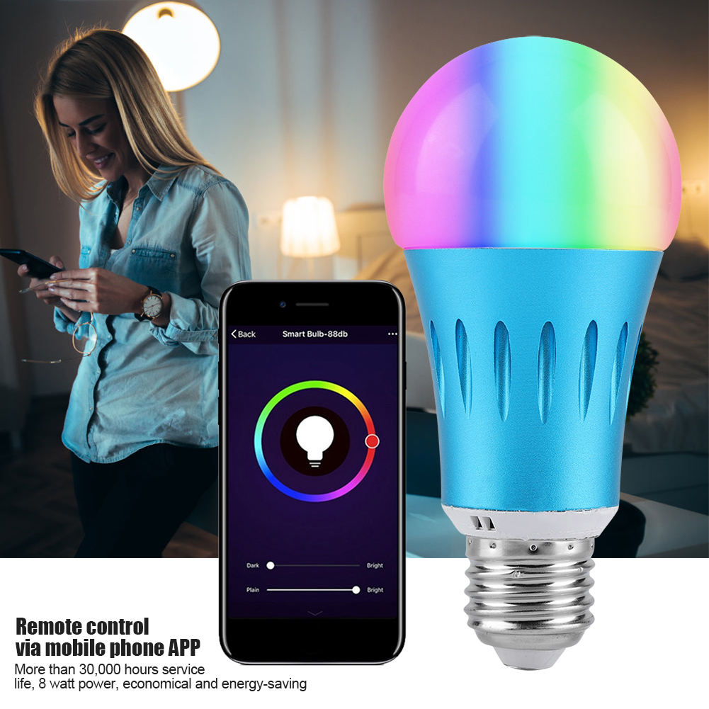 7w Wifi Smart Light Bulb Dimmable Wake Up Lights