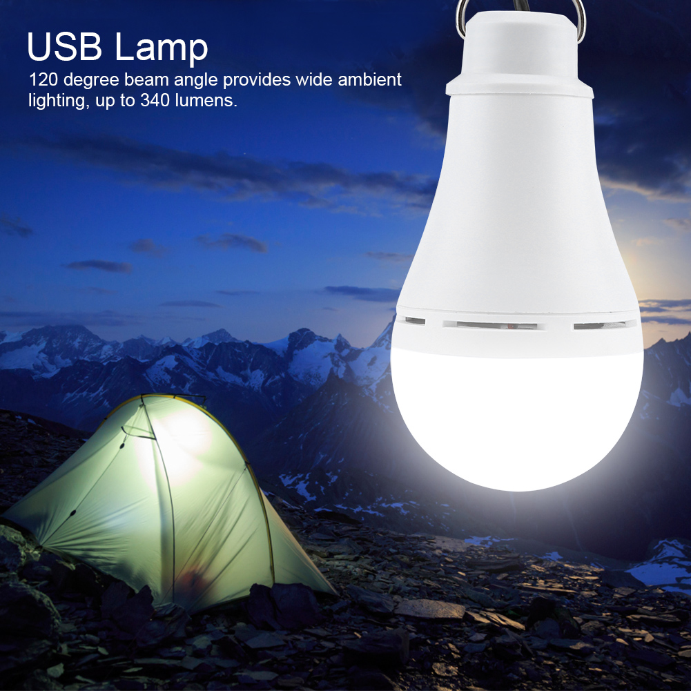 Outdoor-USB-5V-5-6-10W-LED-Light-Bulb-Dimmable-Night-Lamp-for-Camping-Emergency thumbnail 21