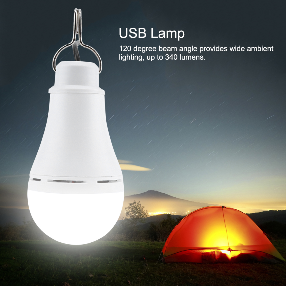 Outdoor-USB-5V-5-6-10W-LED-Light-Bulb-Dimmable-Night-Lamp-for-Camping-Emergency thumbnail 24