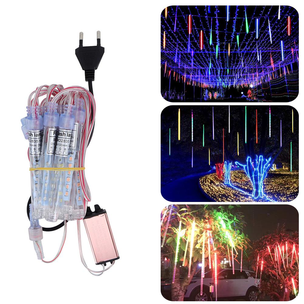 LED-Outdoor-Meteor-Shower-Rain-String-Lights-for-Christmas-Wedding-Decoration thumbnail 15