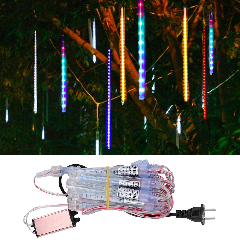 LED-Outdoor-Meteor-Shower-Rain-String-Lights-for-Christmas-Wedding-Decoration thumbnail 18