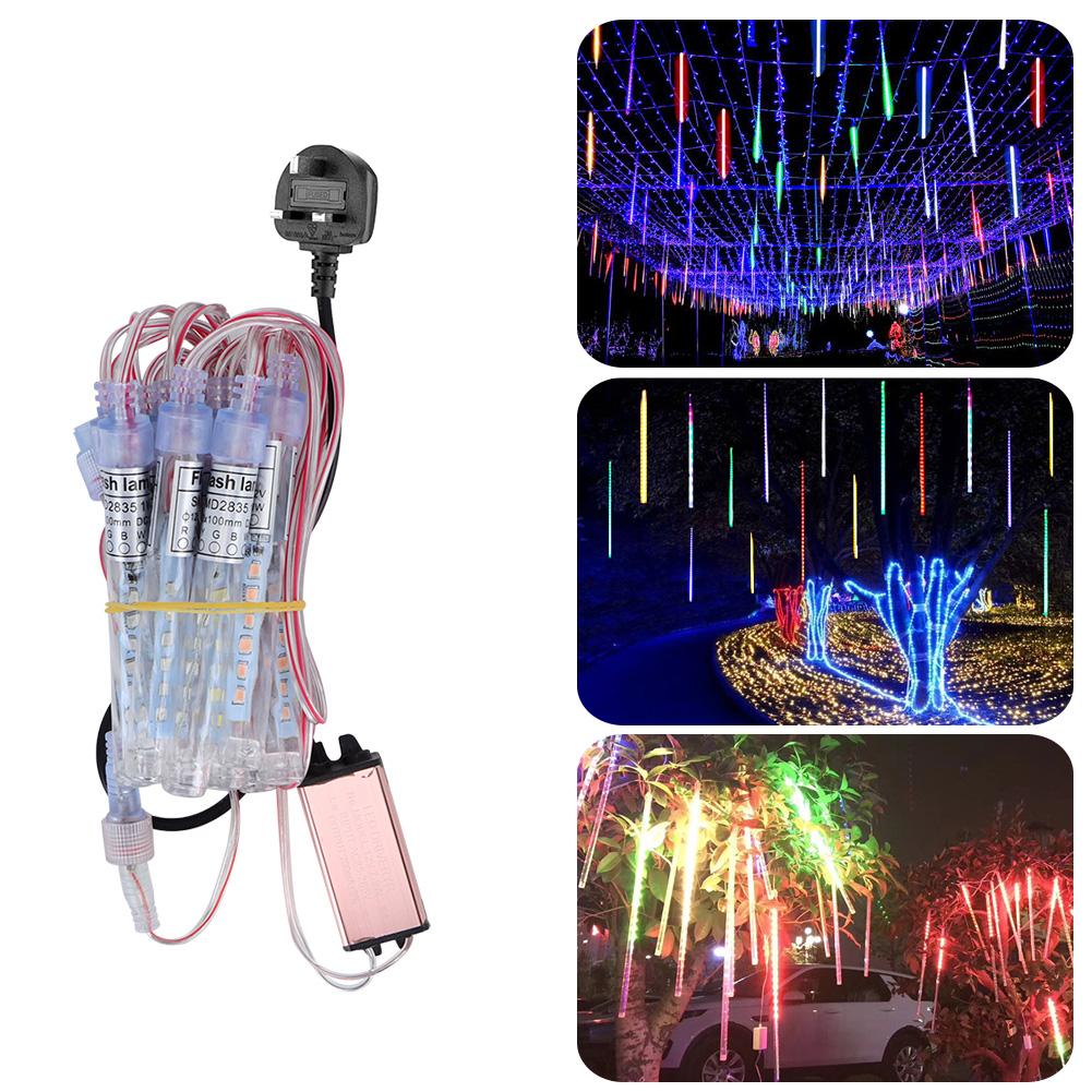LED-Outdoor-Meteor-Shower-Rain-String-Lights-for-Christmas-Wedding-Decoration thumbnail 21