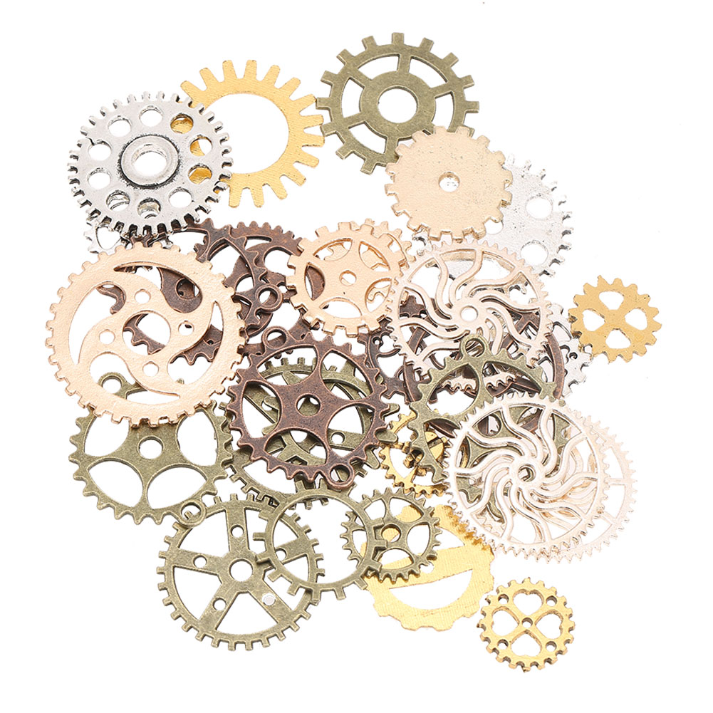Mixed-Colour-Watch-Parts-Steampunk-Gears-Pendant-Jewelry-Crafts-Making-Findings thumbnail 12
