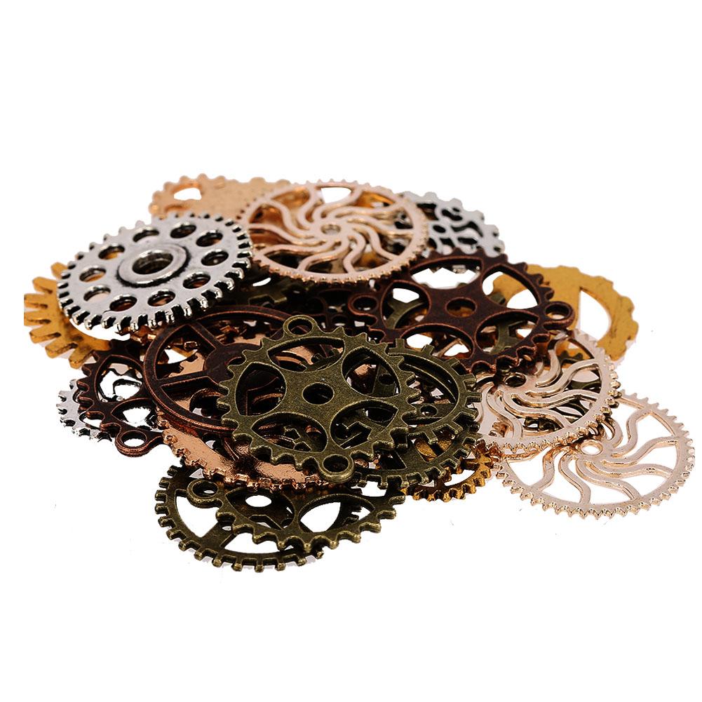 50g-Watch-Parts-Steampunk-Jewelry-Making-Art-Craft-Cyberpunk-Cogs-amp-Gears-Charms thumbnail 11