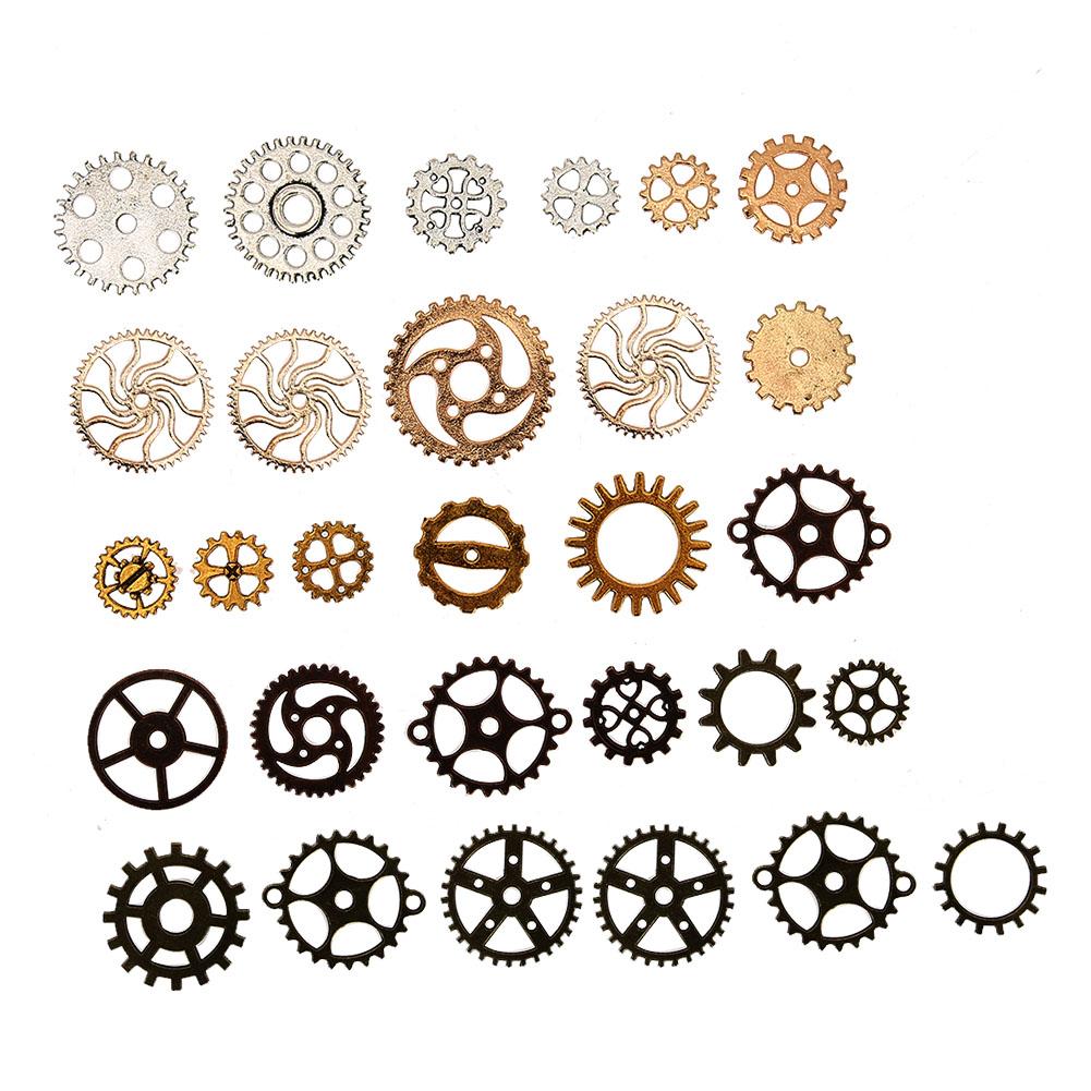 50g-Watch-Parts-Steampunk-Jewelry-Making-Art-Craft-Cyberpunk-Cogs-amp-Gears-Charms thumbnail 12