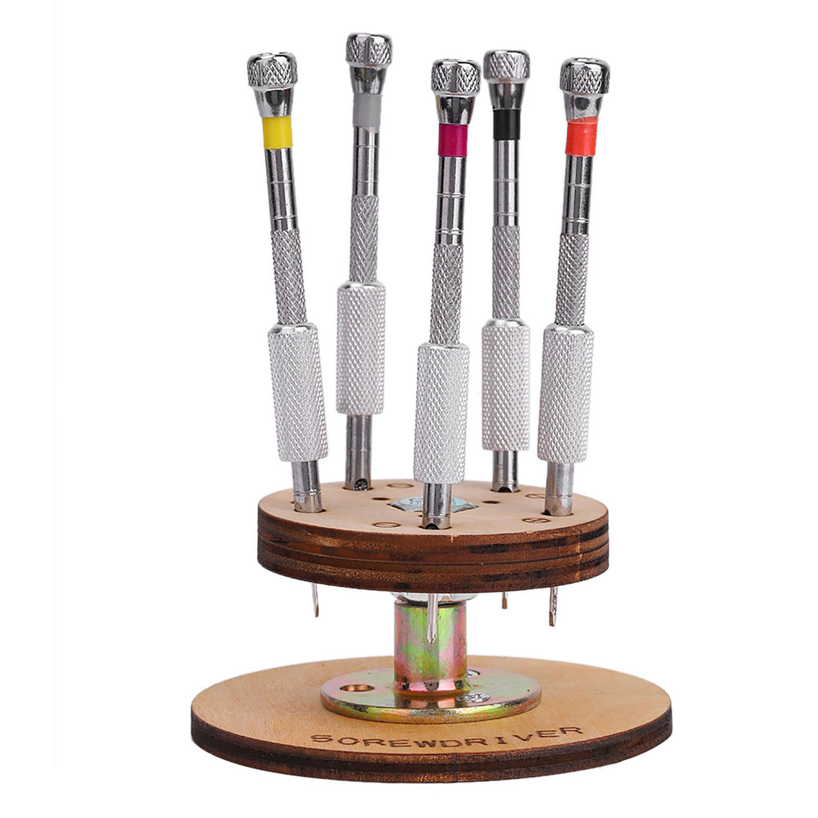 5pcs-Screwdrivers-Jewelers-Watchmaker-Precision-Set-Watch-Repair-Tool-with-Stand thumbnail 13