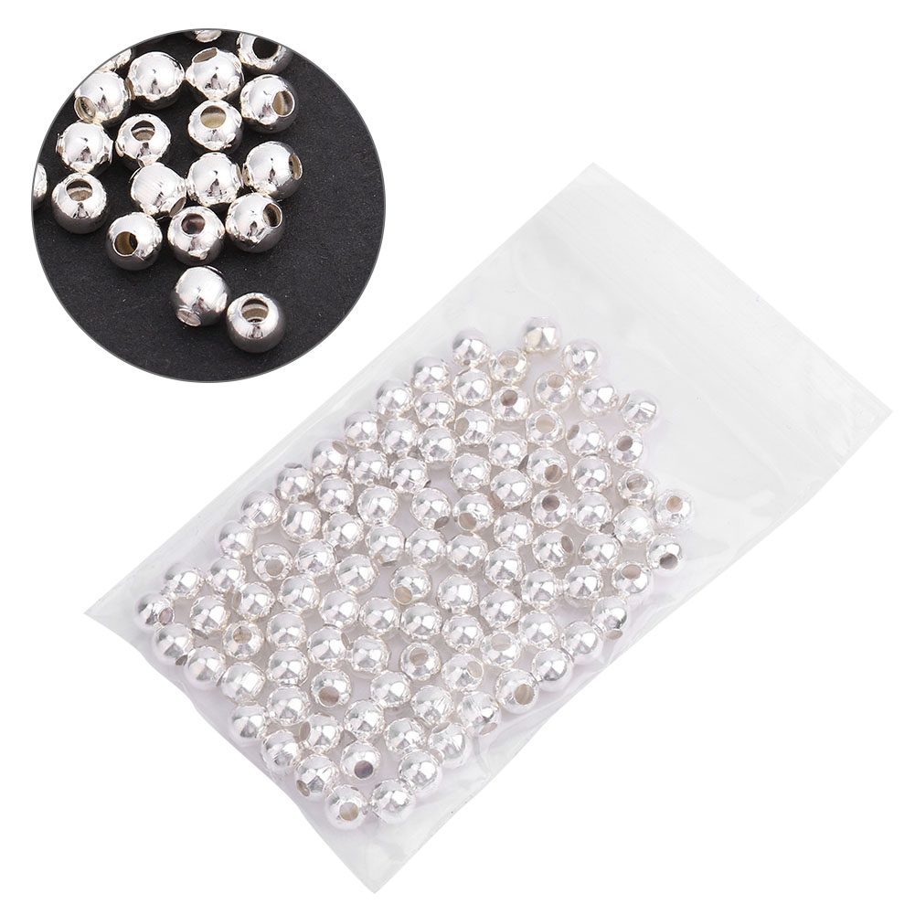 100pcs-4mm-Silver-Tube-Loose-Beads-Glossy-Frosted-Findings-Jewelry-DIY-Making thumbnail 10