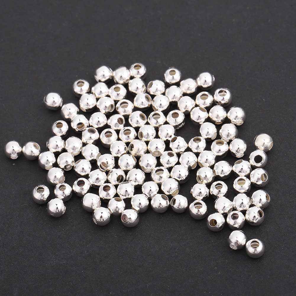 100pcs-4mm-Silver-Tube-Loose-Beads-Glossy-Frosted-Findings-Jewelry-DIY-Making thumbnail 11
