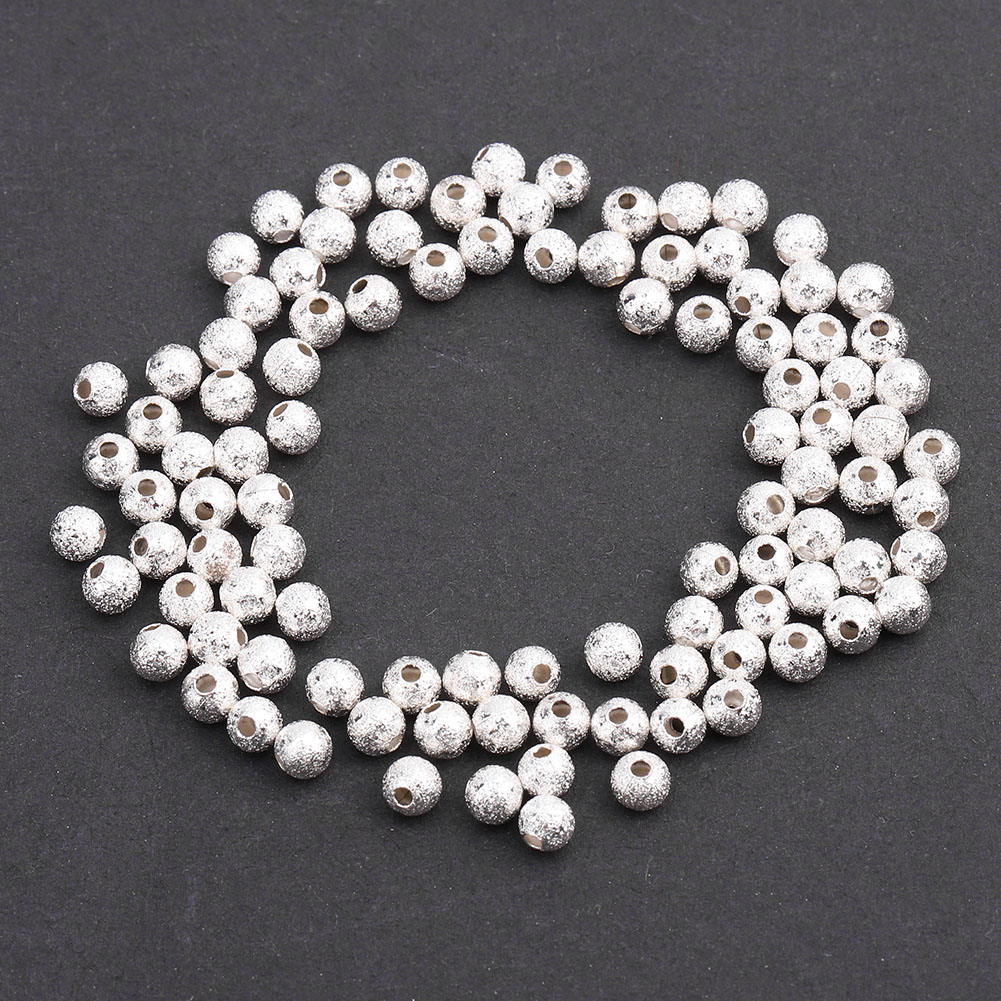 100pcs-4mm-Silver-Tube-Loose-Beads-Glossy-Frosted-Findings-Jewelry-DIY-Making thumbnail 14