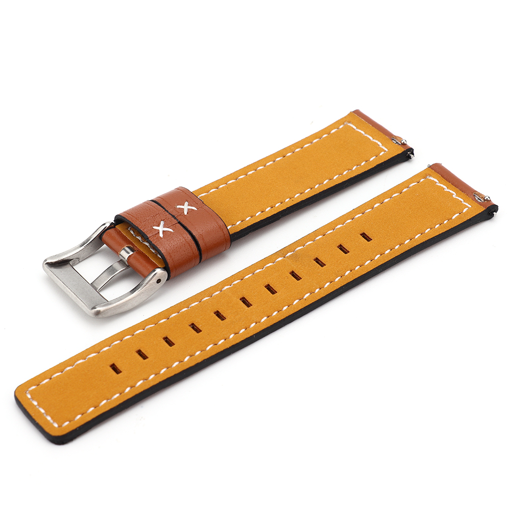 Cowhide-Leather-Watchbands-Men-Women-Watch-Band-Strap-Blet-For-Gear-S2-S4 thumbnail 13