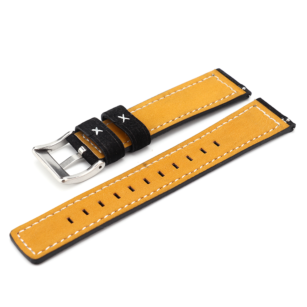 Cowhide-Leather-Watchbands-Men-Women-Watch-Band-Strap-Blet-For-Gear-S2-S4 thumbnail 16