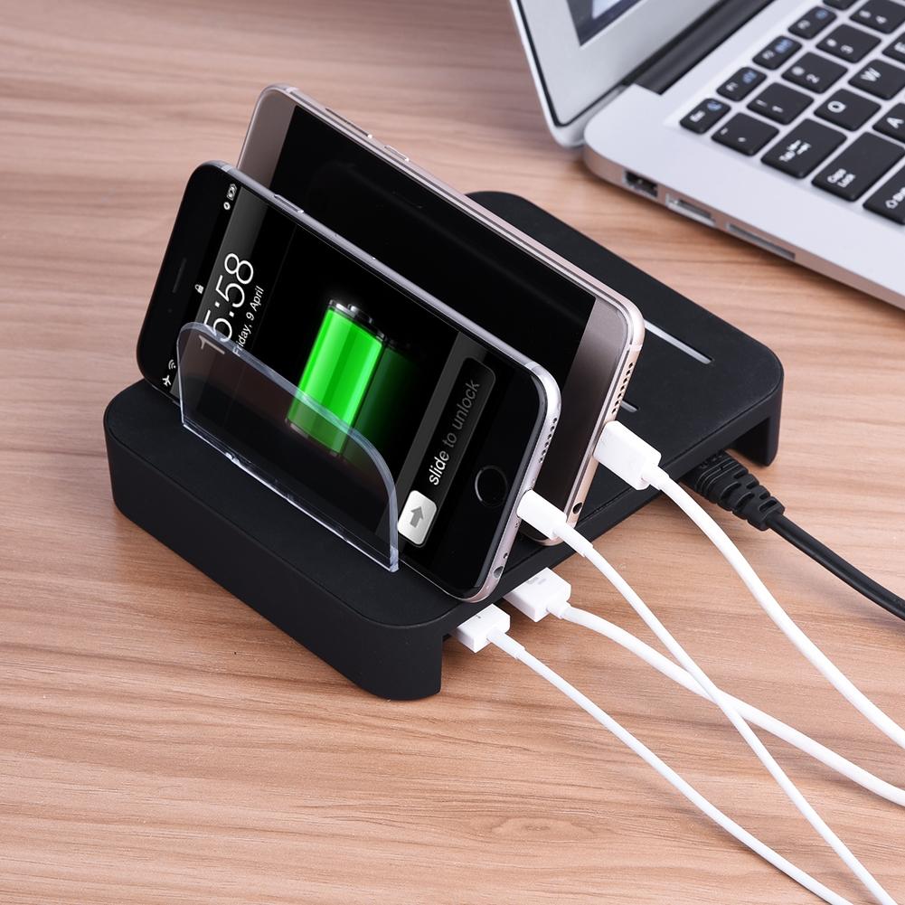 universal 4 multi port usb charging station dock desktop fast charger for phones ebay. Black Bedroom Furniture Sets. Home Design Ideas