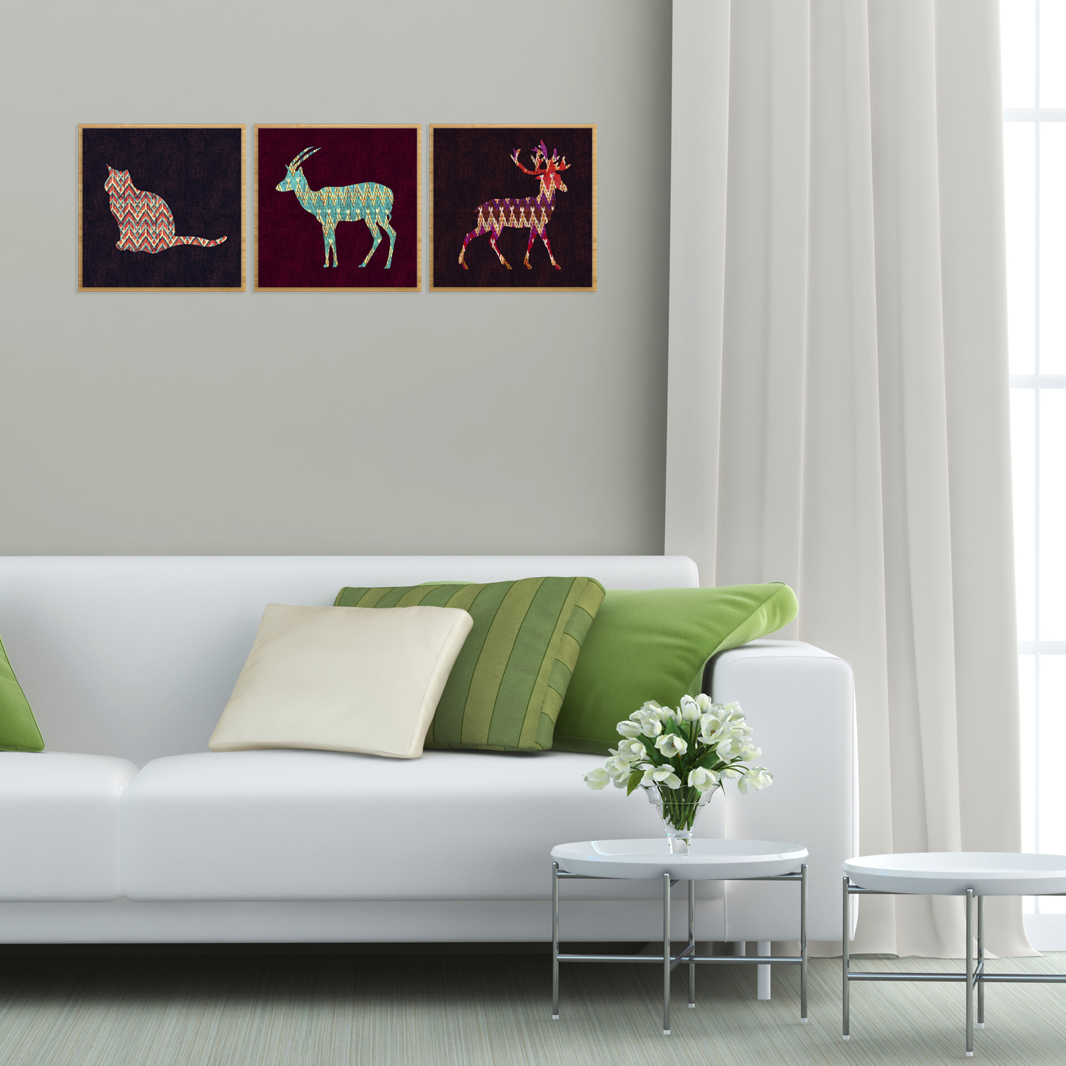 22Types Cartoon Animal Canvas Painting Art Print Pictures Home Room Wall Decor