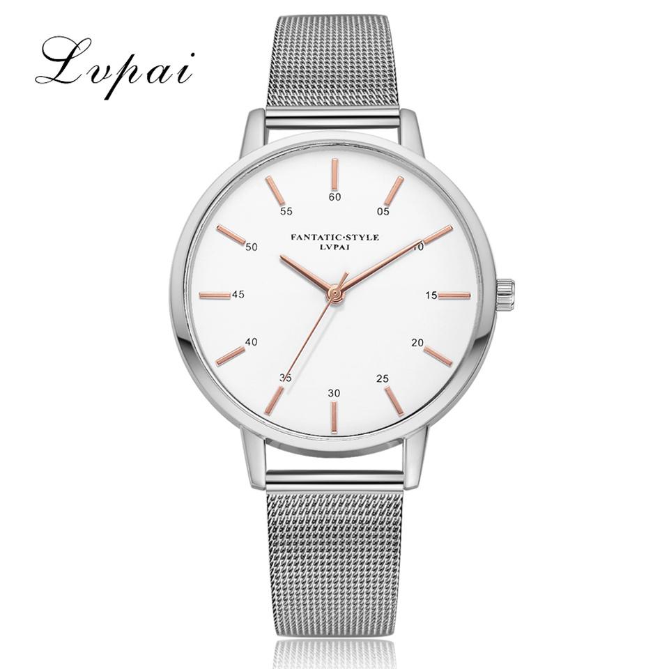 LVPAI-Womens-Ladies-Watches-Rose-Gold-Silver-Dial-Mesh-Band-Quartz-Wrist-Watch-S