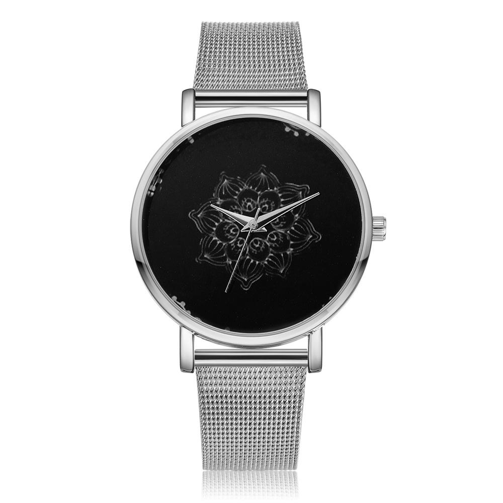 LVPAI-Womens-Ladies-Watches-Rose-Gold-Silver-Dial-Mesh-Band-Quartz-Wrist-Watch