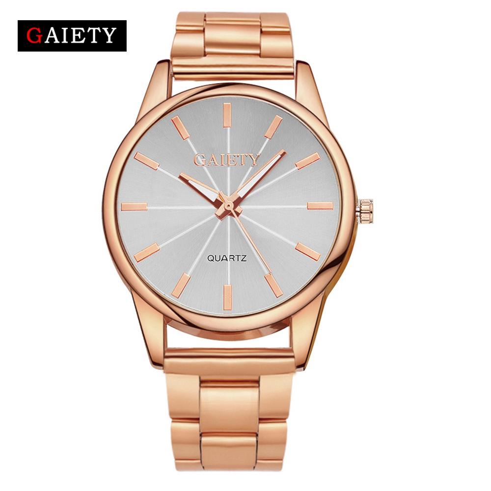 GAIETY-Mens-Watches-Stainless-Steel-Case-Strap-Band-Analog-Quartz-Wrist-Watch-ST