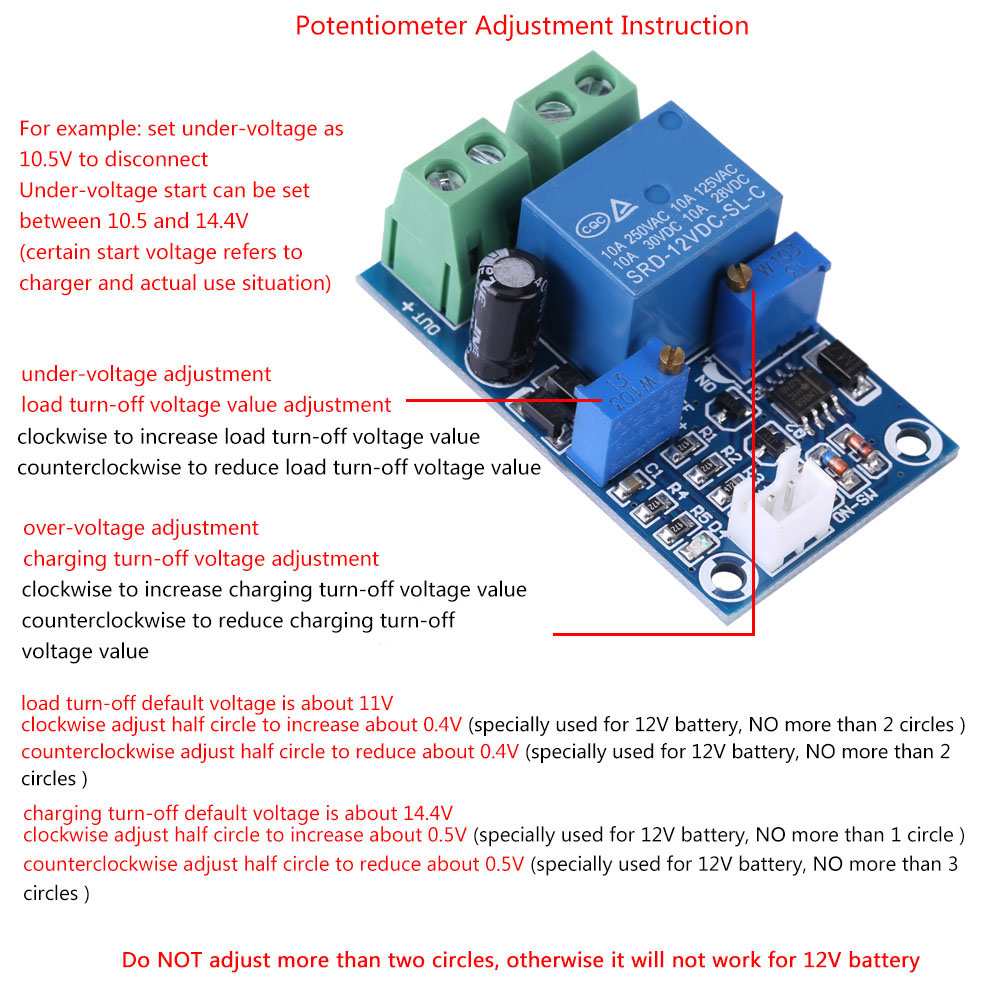 Details About 12v Battery Low Voltage Cut Off On Switch Automatic Recovery Protection Module Z Charger Circuit With Auto Circuits Gallery