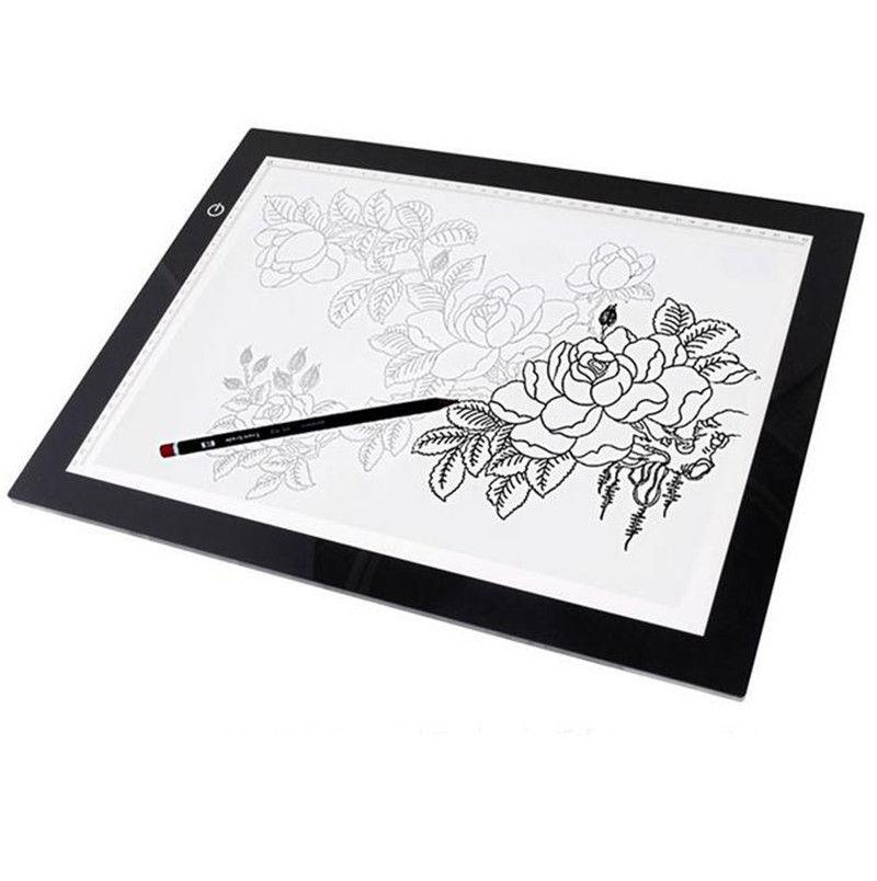 Led tracing light box board artist drawing calligraphy pad