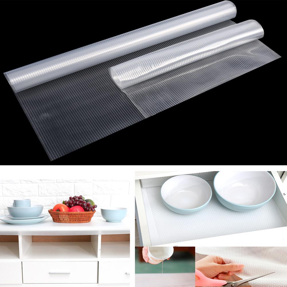 Clear EVA Waterproof Kitchen Shelf Drawer Liner Cupboard Cabinet Non Slip Mat