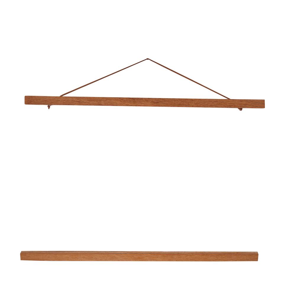 21-50cm Magnet Picture Hanger Wooden Frame Scroll Photo Poster ...