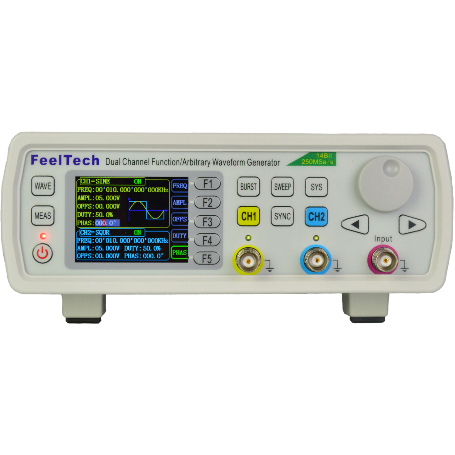 GB-60MHz High Precision Dual-channel Arbitrary Waveform Function Generator Frequency Meter 250MSa//s AC100-240V FY6800 DDS Signal Generator Counter