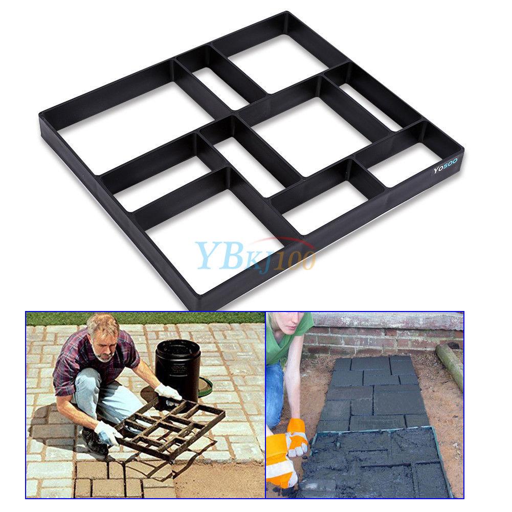 Betonform Pflasterform Gießform für Garten Gehweg Terrassenplatten 45x40x4cm KO