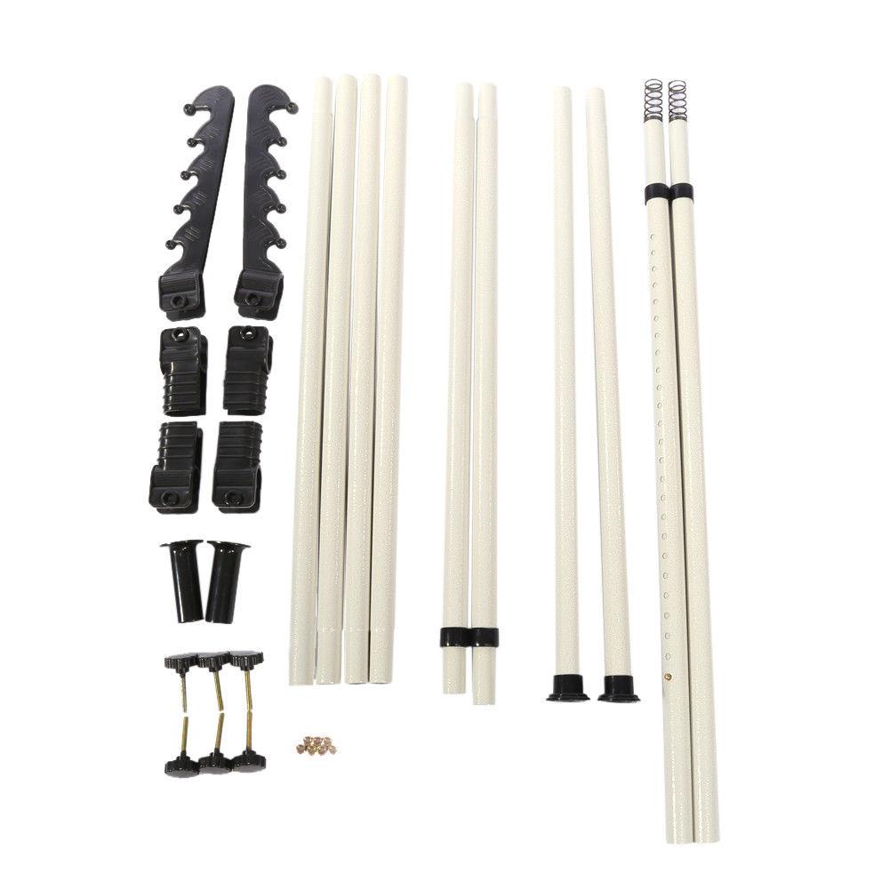 2 3 poles adjustable diy clothes coat garment hanging rail. Black Bedroom Furniture Sets. Home Design Ideas