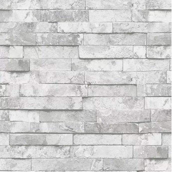 9 5m wandtapete wandpaneele stein mauer optik vlies tapete grau 3d papier em001 ebay - Wandpaneele stein ...