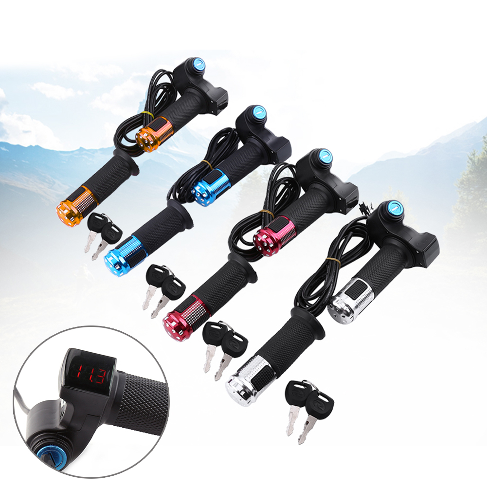 12//24//36//48//72V Automatic Electric Scooter E-Bike Throttle Grip Handlebars BT