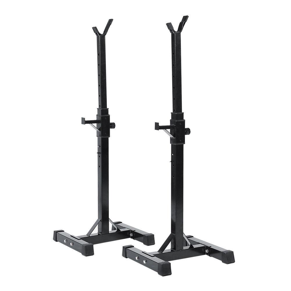 Weight Rack Walmart: Workout Squat Rack Stand Power Stands Barbell Adjustable