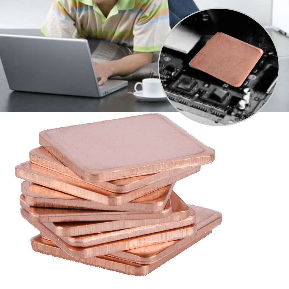 20x20mm Copper Heat Sink Shim Sheet Thermal Pads For