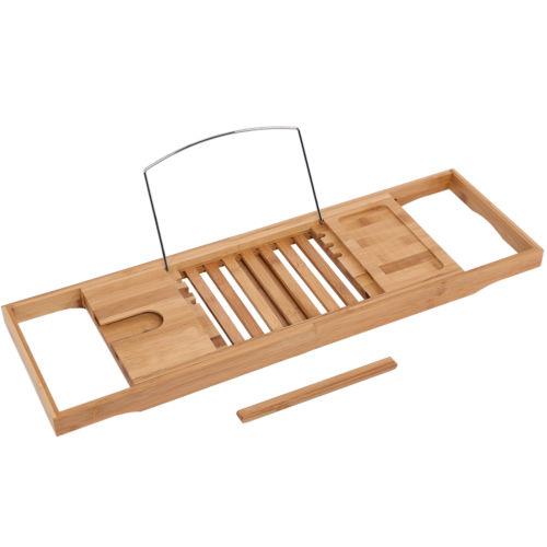 Bamboo Bath Bridge Tub Caddy Tray Rack Bathroom Shelf Wine 3 level ...