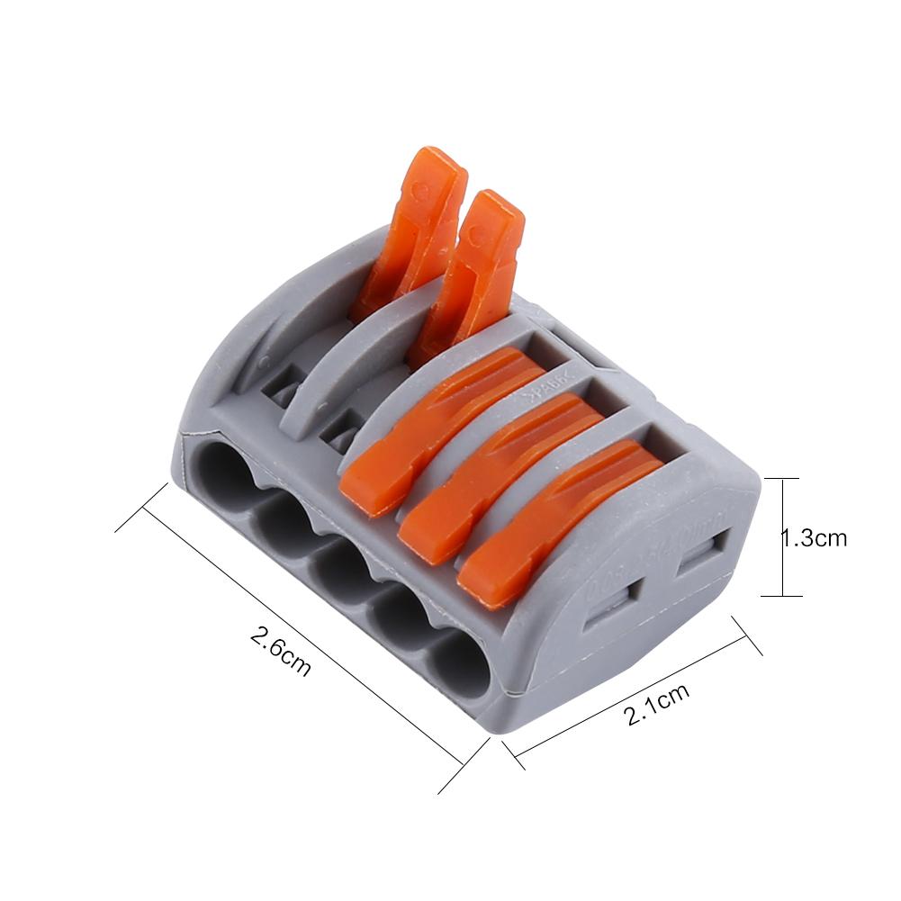 60Pcs 2//3//5 Way Universal Compact Wire Steckverbinder Leiter Klemmenblock DE