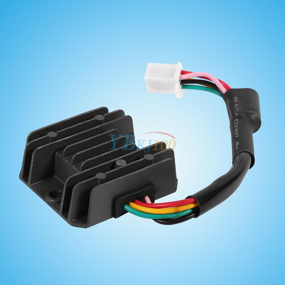 5 pin rectifier regulator wiring diagram universal 12v 5 pin wire voltage regulator rectifier for ...