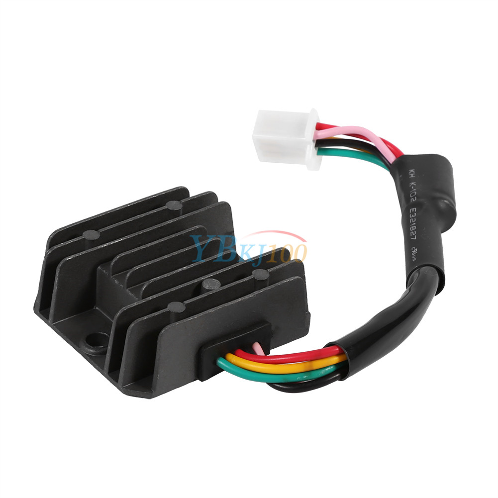 Universal 12V 5 Pin Wire Voltage Regulator Rectifier For Motorcycle Quad  Scooter