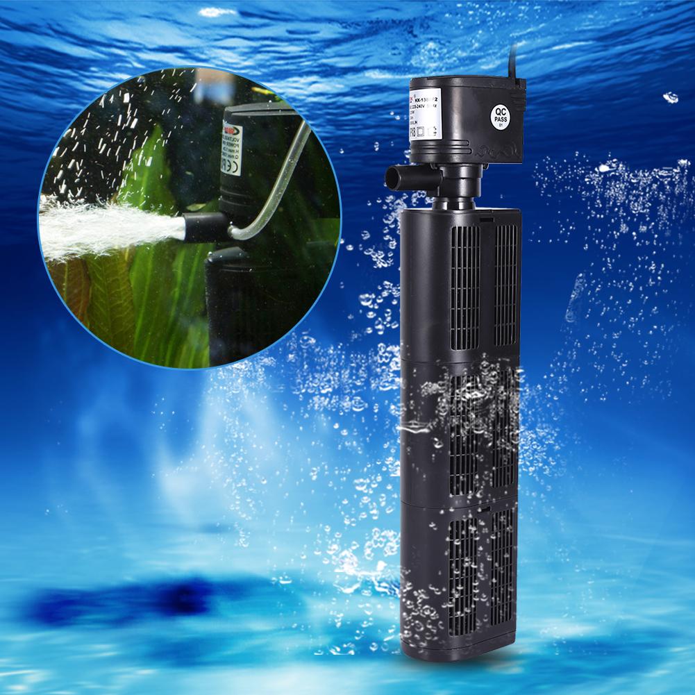 ... 220V 3 in 1 Fish Tank Aquarium Filter Oxygen Pump Water Purifier Tool EU Plug WY