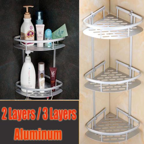 3 Layer Triangular Shower Caddy Shelf Bathroom Corner Bath Rack Storage Holder
